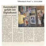 Kunstobjekt gefllt mit Digitalkunst