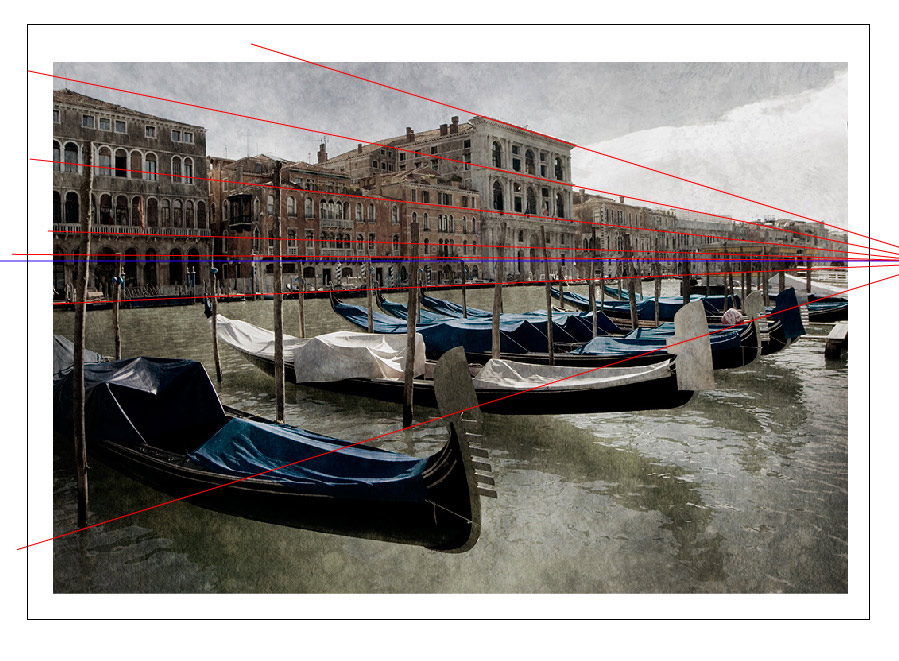 fluchtpunktlinien und perspektivlinien in der fotografie - fluchtpunkt ausserhalb des bildes