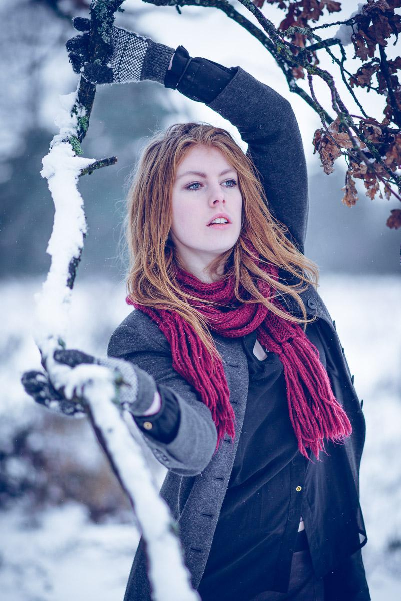 Portrait Outdoor Winter Redhair