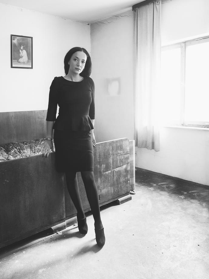 Portrait indoor Schwarzweiss