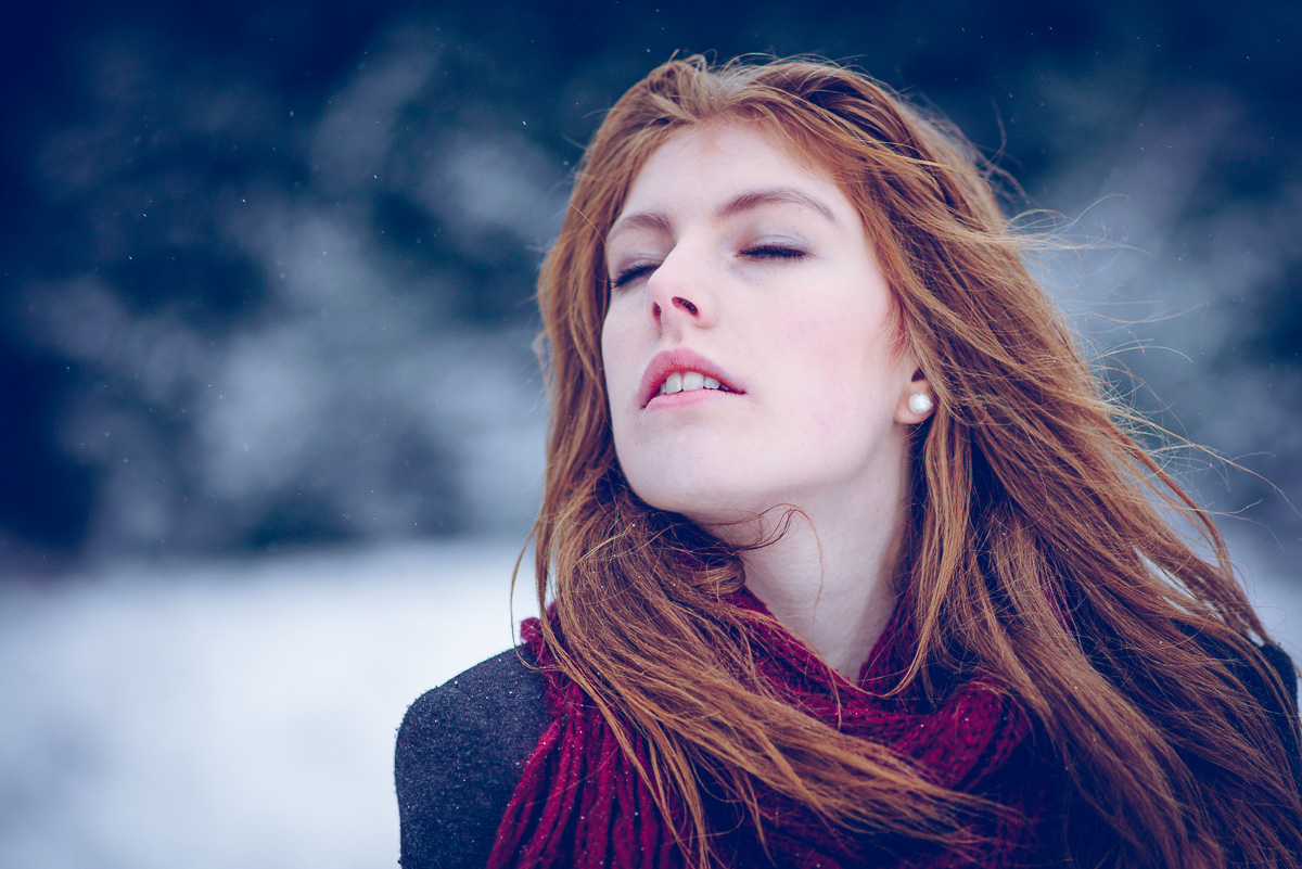 Portrait Outdoor Winter Redhair