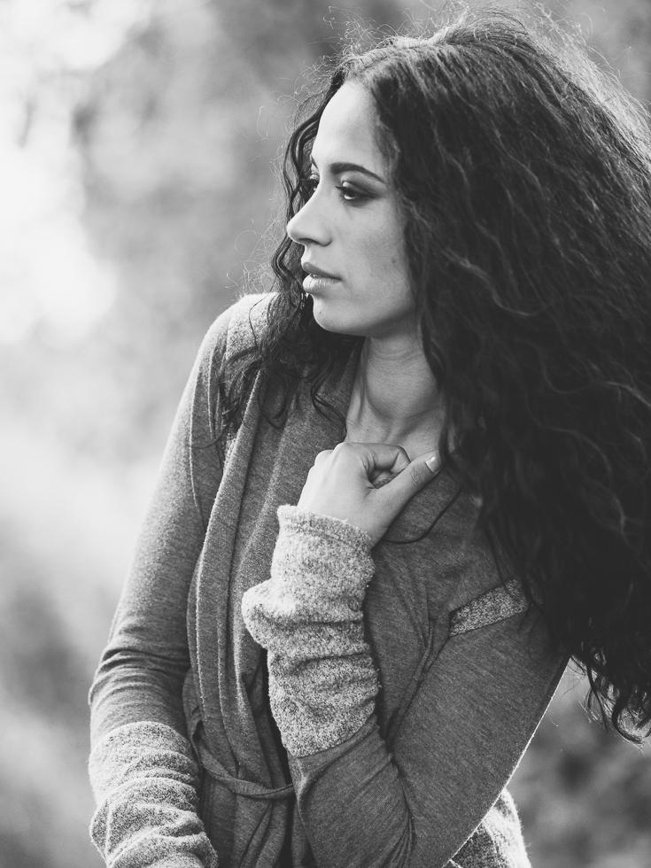 Haarfotografie Outdoor Schwrzweiss